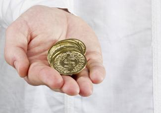 Gold coins for Arras Ceremony