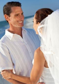 Groom in wedding shirt
