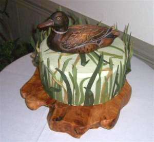 Duck hunting groom's cake by BettyCakes | Photo courtesy BettyCakes