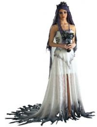 finding unique halloween wedding dresses corpse bride costume dress from amazoncom - Halloween Wedding Gown