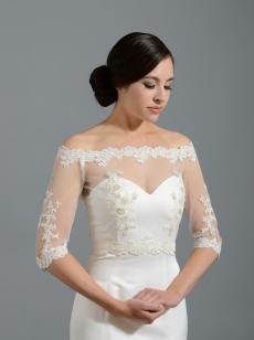 Off-Shoulder Lace Bolero from Tulip Bridal