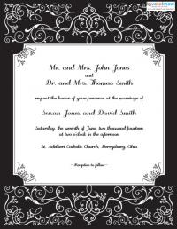 Free printable formal wedding invitation