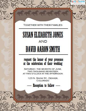 Western wedding invitations lovetoknow click to download and print this invitation stopboris Choice Image