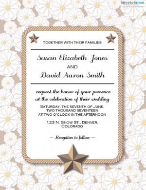 Click to download the flowers and stars invite.