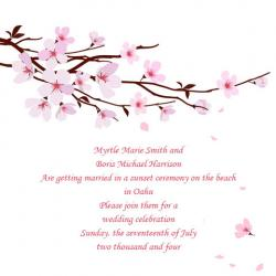 Cherry Blossom Wedding Invite