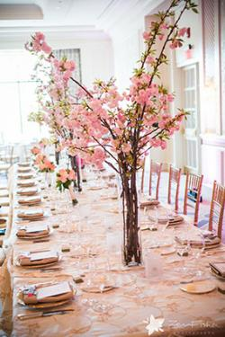 Cherry blossom theme wedding ideas