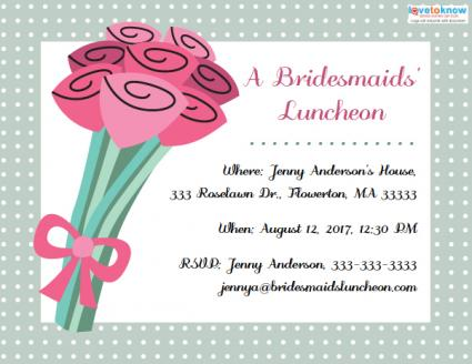 Bridesmaids Luncheon Invitations – Lunch Invitation Templates