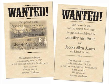 Wanted! Invitation by Tara D'Arcy Designs