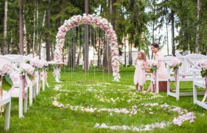 wedding at a park