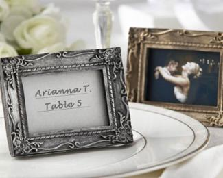 Antique Finish Place Card Holder
