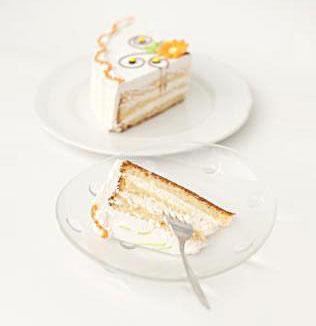 white cake slice
