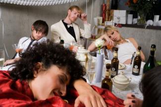 drunk bridal party
