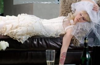 Passed out bride
