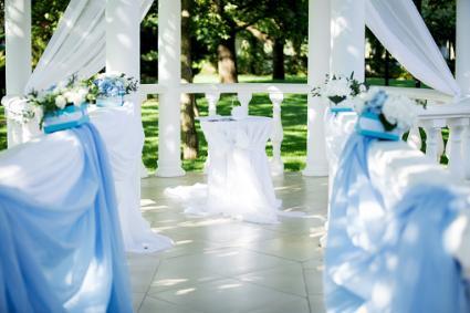 Flower decor wedding ceremony