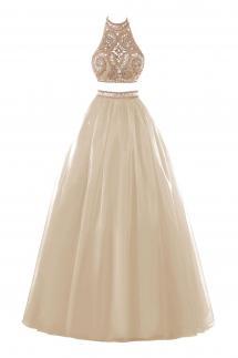 two-piece bridal dress