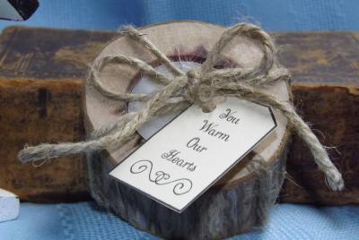 Rustic Thank You Candle