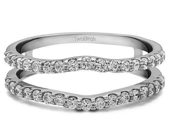 Shared prong wedding ring enhancer