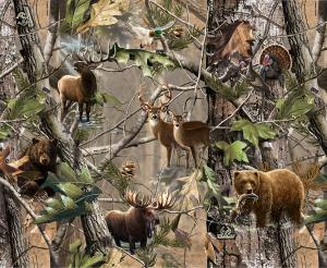 Hunting theme edible image cake topper