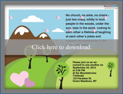 Outdoor wedding invitation