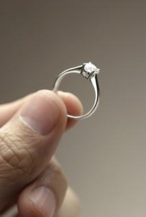 ring enhancers would emphasize diamond solitaire engagement rings like the one shown above