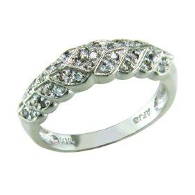 Basket Weave band with Diamonds