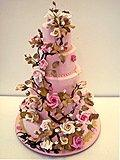 Pink tiered cake. Ron Ben-Israel Cakes,