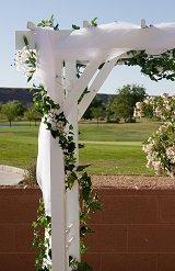 Ideas for Decorating a Wedding Arch