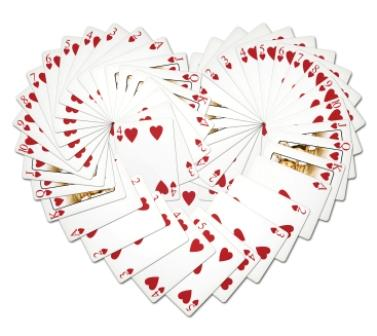 cards in heart shape