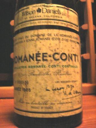 DRC Burgundy Wine