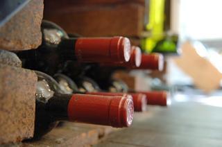wine on its side