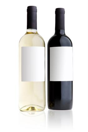 bottle of red and bottle of white