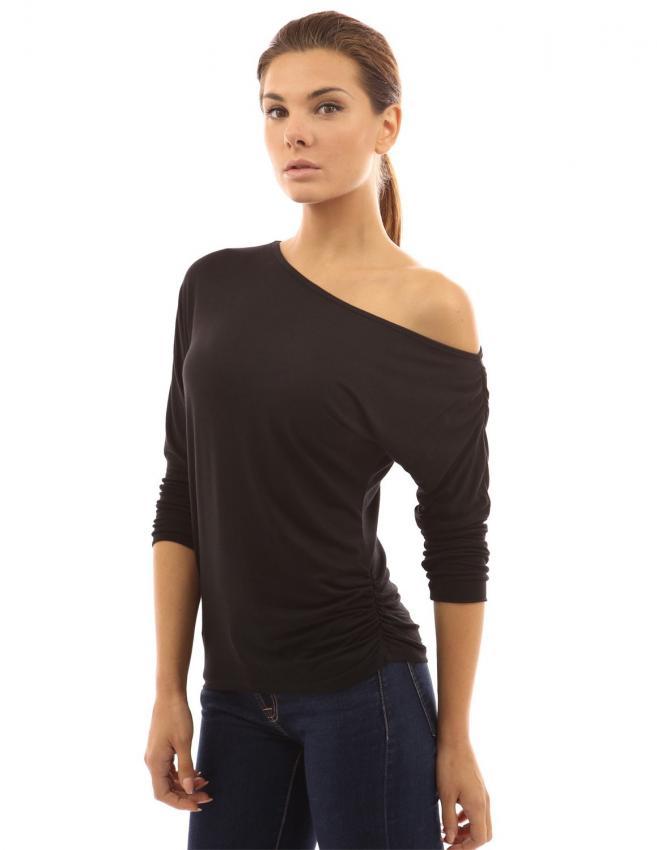 one shoulder shirts slideshow. Black Bedroom Furniture Sets. Home Design Ideas