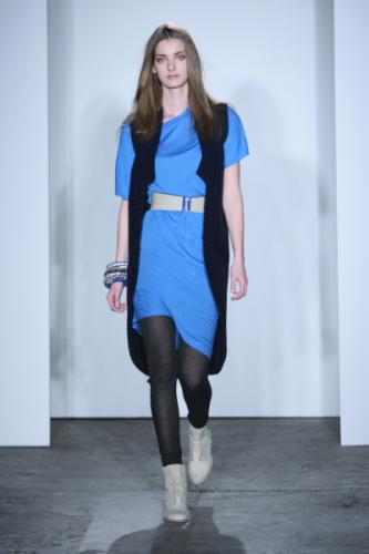 Blue Sling Sweater Dress Fashion with VPL Style for Women in Fall 2011