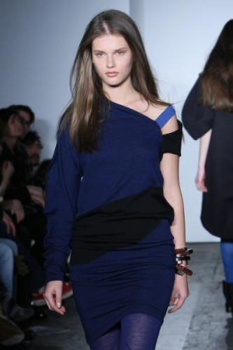 Modern Asymmetrical Dress Fashion with Bra Strap Design for Women in 2011