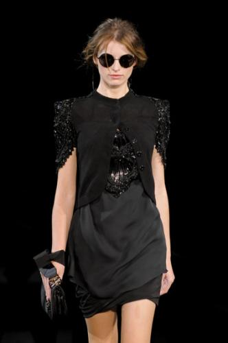 2011 Emporio Armani Fashion with Little Black Dress for Women at The Show 2011