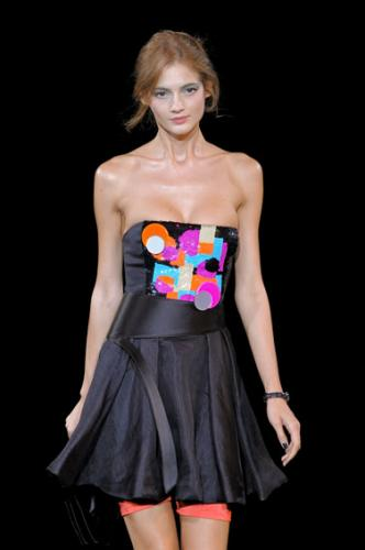 Funny Emporio Armani Fashion with Pink Color Dress for Women at The Show