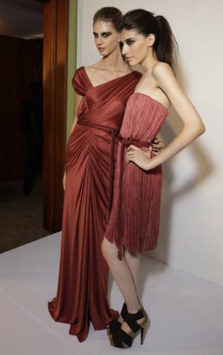 Elegant Romantic Dress Fashion with Deep Dusty Rose Color for Women in The Party