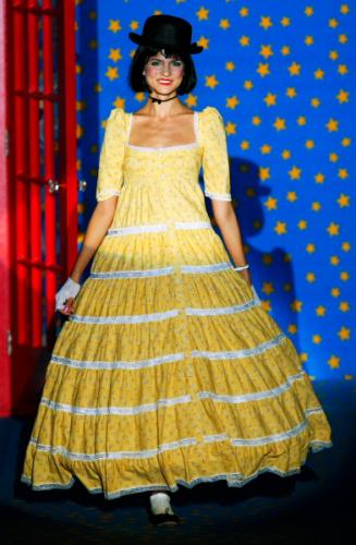 Bright Yellow Color Dresses Fashion with Betsey Johnson Style for Women in 2011