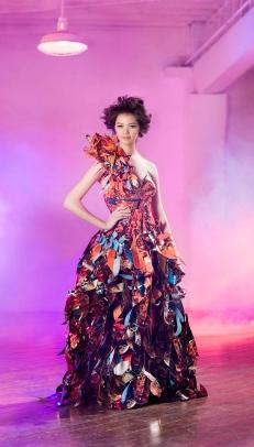 unusual recycled dress
