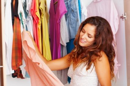 woman selecting clothes
