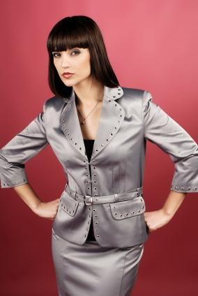grey ladies suit