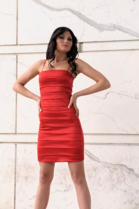 red body con bandage dress