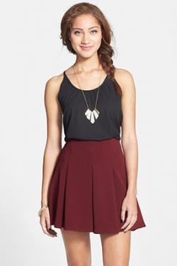 Lush Pleated Mini Skirt