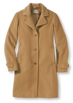 Classic Lambswool Polo Coat in Camel