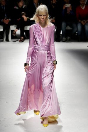 Model at Fausto Puglisi fashion show