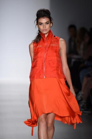 Model at Marissa Webb fashion show