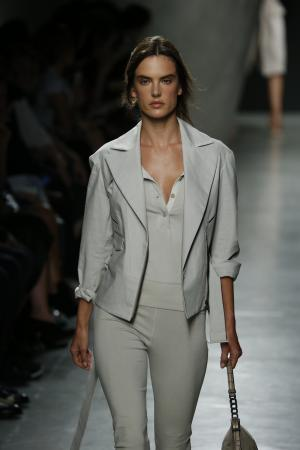 Model at Bottega Veneta sho
