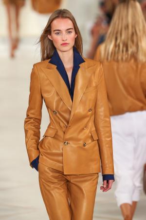 Model during New York Fashion Week