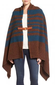Woolwich Fireside II Wool Blend Poncho