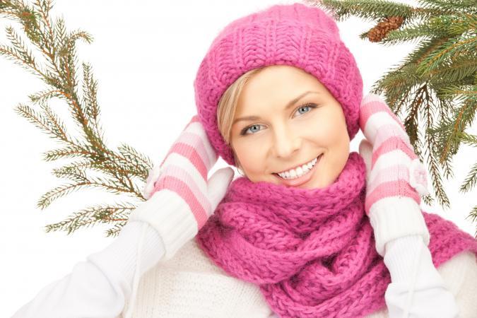 Woman in winter hat